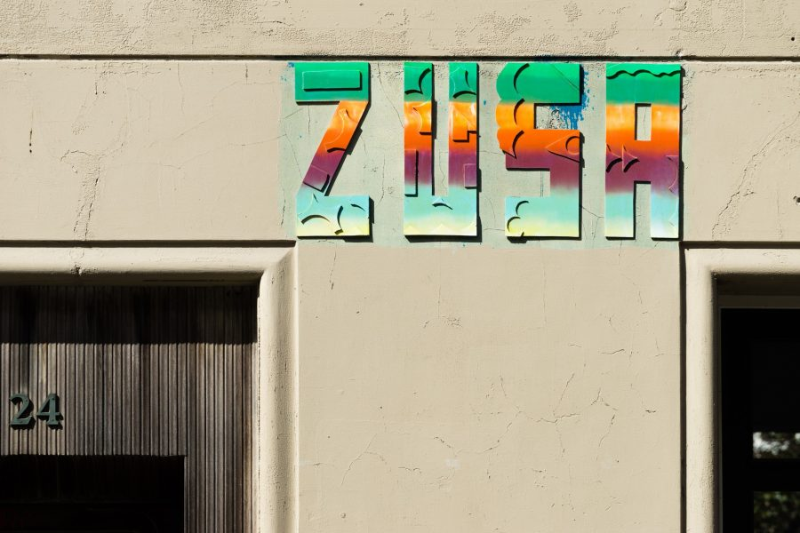 Billede af et af de mange ZUSA-graffitimalerier - dette billede er fra på Flensborggade // Foto: Kim Jasper