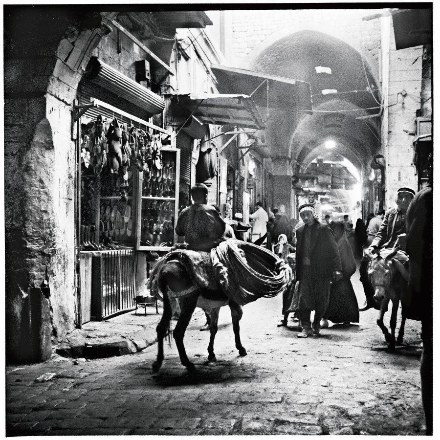 """Billede fra fotoudstillingen """"Eyes on Syria"""" på Blågårdsplads //Foto: Forlaget Orbis"""