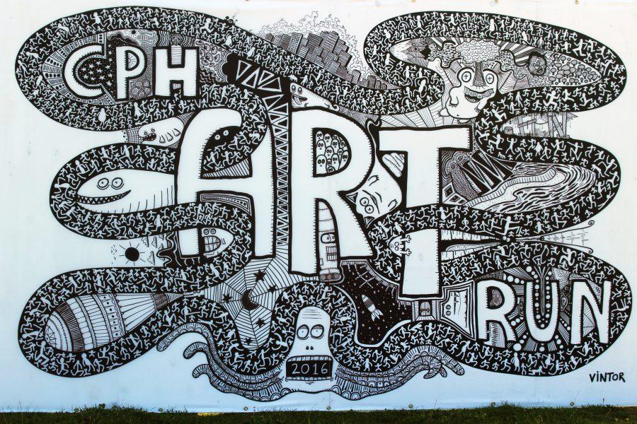 Kunst doodle fra årets Copenhagen Art Run // Nanna Claudius Bergø