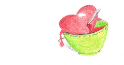 Hjerter, der bløder suppe