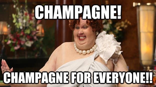 Champagnesmagning på Vinhanen